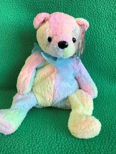 a733ae2517c Ty Beanie Baby Mellow The Multi-Colored Rainbow Teddy Bear MWMT 2000 Beanie.  Beanie BabiesTy BeanieStuffed AnimalsBaby ...