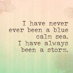 "Well this is a big ol' Fleetwood Mac lyrics fail. ""Never have I been a blue calm sea. I have always been a storm."" #StevieNicks"