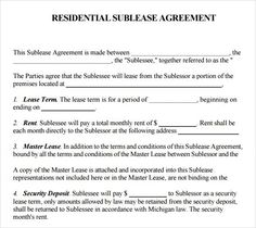 Free kentucky subleaseroommate agreement form pdf template printable sample sublease agreement template form accmission Gallery