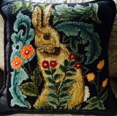 P852: Morris Bunny ~ so beautiful! Would be fun to try making as a freeform crochet project too!