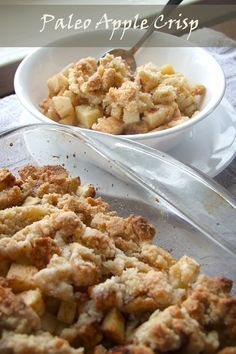Healthy Paleo Apple Crisp! Perfect for breakfast or as a guilt-free splurge =)