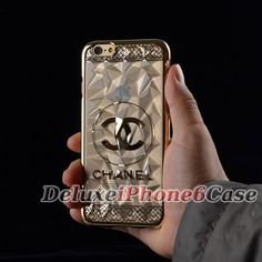 2015 newest Chanel iPhone 6 Case clear gold, perfect for boy, men in summer!
