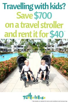 Budget Family Travel Tip: Rent or hire a travel stroller for your holiday vacation Traveling With Baby, Travel With Kids, Family Travel, Traveling By Yourself, Baby Travel, Tree Hut, Baby Equipment, Travel Stroller, Preparing For Baby