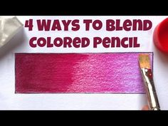 How To Blend Colored Pencil | Prismacolor | Easy Way