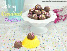 Skinny Caramel Truffles (no bake)