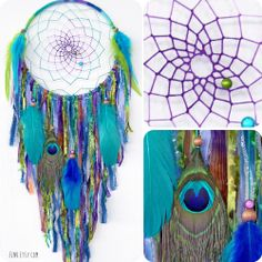 The Peacock Large Native Style Handwoven Dream Catcher by eenk, $79.00
