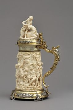 Tankard Germany, 1651, carved ivory mounted in silver gilt. The Victoria & Albert Museum