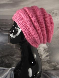 free slouchy hat knitting pattern | ... com/i/beehive-for-bairns-4-vintage-knitting-crochet-patterns-165907183