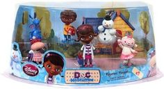 Disney Junior Doc McStuffins Figurine Playset:Amazon:Toys & Games These are the toys I took to the bakery for Kyla's cake