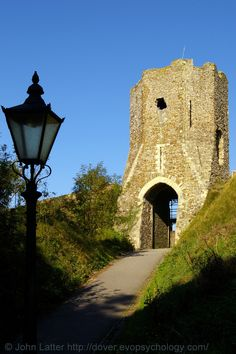 Medieval Colton's Gateway or Tower (alt. Coclico), Dover Castle, Kent, England.  A Norman tower built on a Saxon base. The entrance through which Romans and Saxons once entered their respective fortifications. Stands adjacent to Harold's Earthwork (Roman Pharos and Saxon church of St Mary-in-Castro). A Listed Building and English Heritage site, also a Scheduled Ancient Monument. Norman and Medieval History. Tourism and Travel. More information at http://www.panoramio.com/photo/5504764