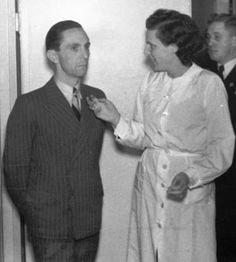 Joseph Goebbels and Leni Riefenstahl
