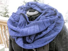 Infinity Scarf Midnight Blue Circle Scarf by DiscoLemonadeDesigns, $24.00