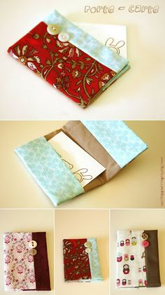 Crochet Christmas Gifts, Crochet Gifts, Diy Couture, Couture Sewing, Diy Accessoires, Little Bag, Journal Notebook, Fabric Scraps, Scrap Fabric