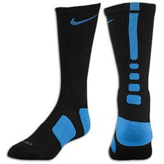 Nike Elite Socks (Black-Blue)