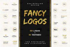 FANCY LOGOS Branding Logo Templates @creativework247