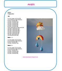 He visto este movil para cuna en el blog de mis gumi gumi  y me ha parecido una preciosidad y ademas muy facil de hacer.               N... Crochet Mandala Pattern, Crochet Patterns Amigurumi, Crochet Dolls, Crochet Stars, Love Crochet, Crochet Flowers, Crochet Baby Mobiles, Crochet Mobile, Baby Hat Knitting Patterns Free