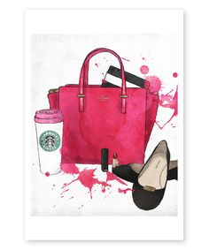Look at this #zulilyfind! Oliver Gal Bags Shoes & Coffee Wall Art Print by Oliver Gal #zulilyfinds