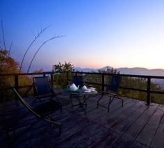 Roof-top dining at Two Chimneys, Uttarakhand, India