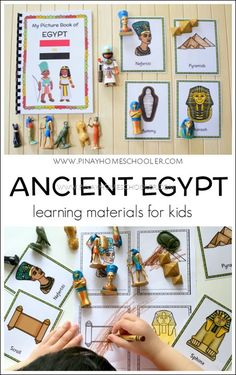 ancient egypt learning materials for kids Ancient Egypt Activities, Ancient Egypt Crafts, Ancient Egypt For Kids, History Activities, Kids Learning Activities, Kindergarten Activities, Ancient Egypt Lessons, Egyptian Crafts, Multicultural Activities