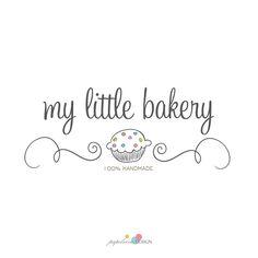 My Little Bakery 🧁 Cake Logo Design, Bakery Design, Unique Logo, Modern Logo, Modern Bakery, Pastry Logo, Logos Photography, Cupcake Logo, Name Logo