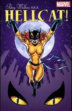 Meet Patsy Walker (aka Hellcat): Marvel's Newest Female-Led Comic Book and 'Jessica Jones' Sidekick Comic Book Artists, Comic Book Characters, Marvel Characters, Comic Artist, Comic Books Art, Marvel Defenders, Marvel Comics, Marvel Art, Comics