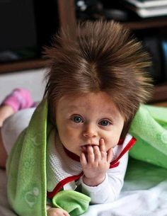 my children totally have this kind of newborn hair (or so it seems thus far)