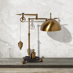 Inspire creativity and invention with the eclectic style of our Franklin Weighted Task Lamp. The design of this quirky piece is influenced by the inventions of Benjamin Franklin,