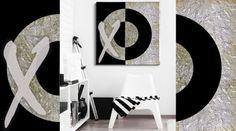 Cuadro yin yang realizado totalmente a mano sobre lienzo, acabado texturizado con pan de plata. Medidas 80x80. Se puede hacer por encargo y personalizado en otras medidas y colores. De venta en Original House. http://www.originalhouse.info/