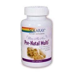 PreNatal Multi de la marque SOLARAY est un complément alimentaire naturel spécifique pour la femme enceinte ou allaitant.