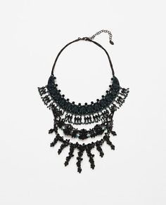 Image 1 of JEWEL PENDANT NECKLACE from Zara