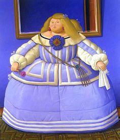 Fernando Botero-La infanta Margarita de las Meninas