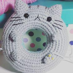 So cute- cat donut! …