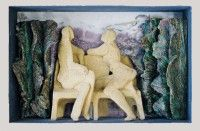 Keramikmuseum Westerwald - 'Siesta im Park' (museum-digital:rheinland-pfalz)Gisela Schmidt-Reuther, Rengsdorf, 1981