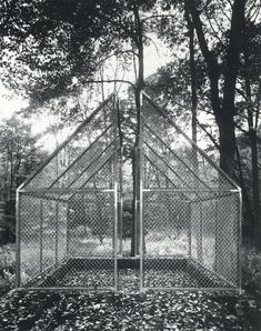 rudygodinez:  Philip Johnson, Ghost House, (1984) This enclosure located on the grounds of the Glass Hous is built in the shape of a gabled ...