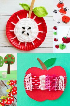 Arty Crafty Kids | Craft | Adorable Apple Crafts for Kids | Tge sweetest, easyiest most 'do-able' apple crafts for kids! Perfect for an apple themed autumn craft session. #applecrafts #autumncrafts #fallcrafts
