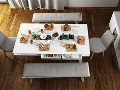 Stôl 200x100 | nábytok VOX Table Settings, Furniture, Home Decor, Table Top Decorations, Interior Design, Place Settings, Home Interior Design, Arredamento, Dinner Table Settings