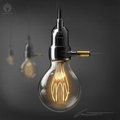 Sketch-It! by L.Trovati....T.E. Vintage Bulb Lamp