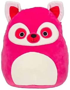 Squishmallow New Kellytoy 16 Inch Lucia The Pink Lemur- Super Soft Plush Toy Animal Pillow Pal Pillow Buddy Stuffed Animal Birthday Gift Holiday Pillow Pals, Animal Birthday, Lemur, Animal Pillows, Zebras, Plushies, Pet Toys, Birthday Gifts, Pink