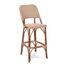 Gar Products 30 Inch Seaside Collection Resin Wicker Bar Stool Dark Bamboo Bistro