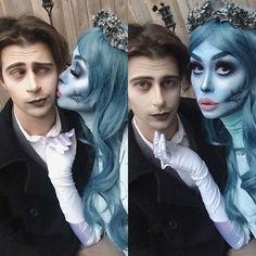 10 Halloween Costume Ideas for Couples: #1. CORPSE BRIDE'S VICTOR AND EMILY