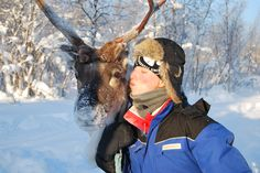 Want to kiss a #reindeer too? Join one of our snowtrips! joker.be/sneeuw