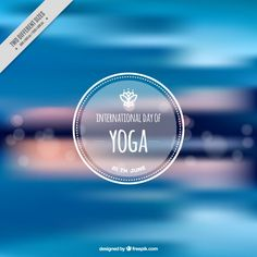 Blue abstract yoga blurred background Free Vector