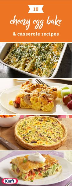 Cheesy Egg Casseroles and Bakes – It almost goes without saying that many of these recipes are, in fact, cheesy egg bakes. But in appreciation of all things cheesy, we decided to put the cheesiest ones all in one place. Click to see everything from cheesy breakfast casseroles to cheesy egg bakes with bacon, ham, or sausage!