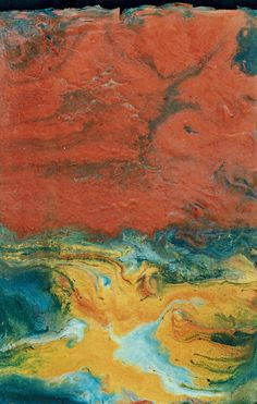 This was one of my first encaustics, started at North Lake College during one of the several art classes I attended taught by Roberto Mungia (on a panel something like 18 wide by 36 high). This is...