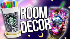 DIY STARBUCKS ROOM DECORATIONS ♥ Recycling Edition!