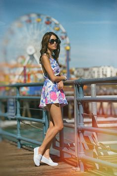 Cotton Candy Crazed with Hapa Clothing at Santa Monica Pier