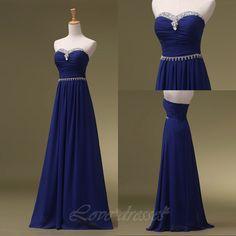 Long Prom Dress Sweetheart Collar Beaded Backless Cheap Prom Dress Custom Prom Dress S305 on Luulla