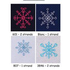 4 Mini Snowflake Instant Download cross stitch designs PDF Cross Stitch Pattern by PosieAndMarmalades on Etsy