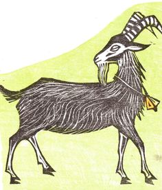 woodcut goat - Google Search