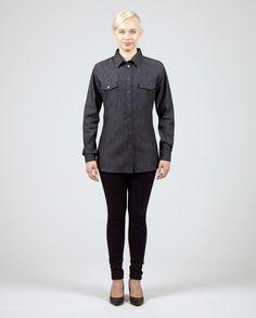 VUOSNAINEN Shirt Denim Workwear Fashion, Work Wear, Normcore, Denim, Shirts, Style, Swag, Work Clothes, Career Wear